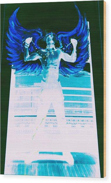Rising Angel Wood Print