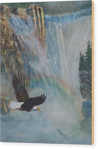 Rising Up With Eagle's Wings 2 Wood Print
