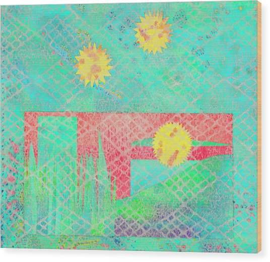 Rita's Meadow Wood Print