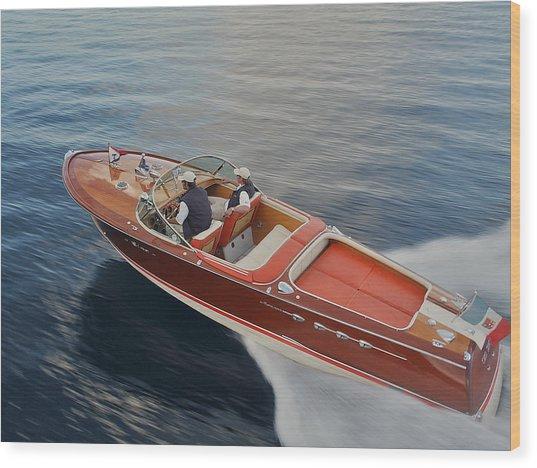 Riva Aquarama Wood Print
