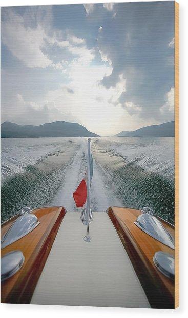 Riva Wake - New York Wood Print