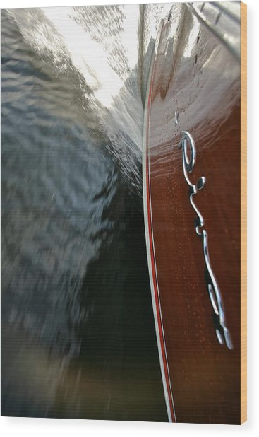 Riva Wake Special Prices Wood Print