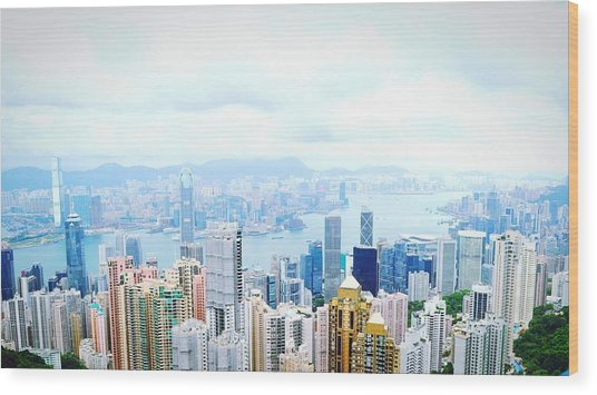 River Amidst Cityscape Against Sky Wood Print by Okky Witarnawan / Eyeem