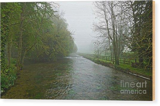 River Anton Wood Print