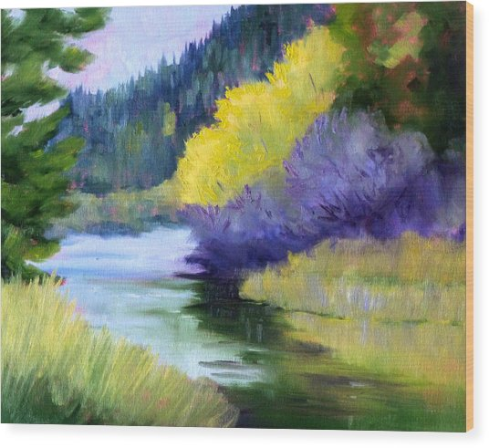 River Color Wood Print