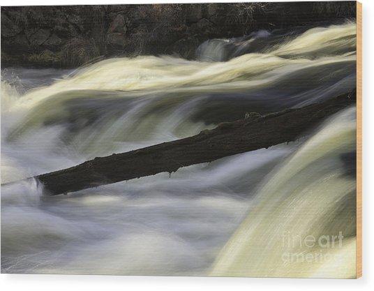 River Contours Wood Print