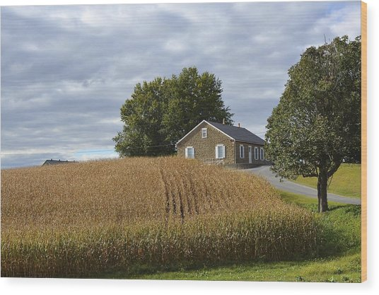 River Corner Mennonite Church Wood Print