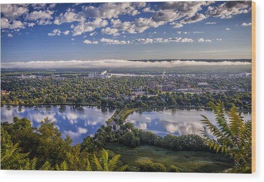 River Fog At Winona Wood Print