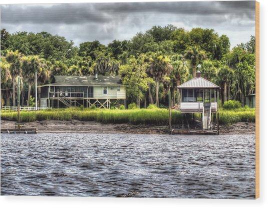 River House On Wimbee Creek Wood Print