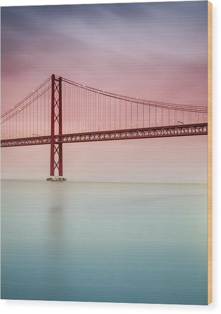 River Hues Wood Print by Landscape Photography