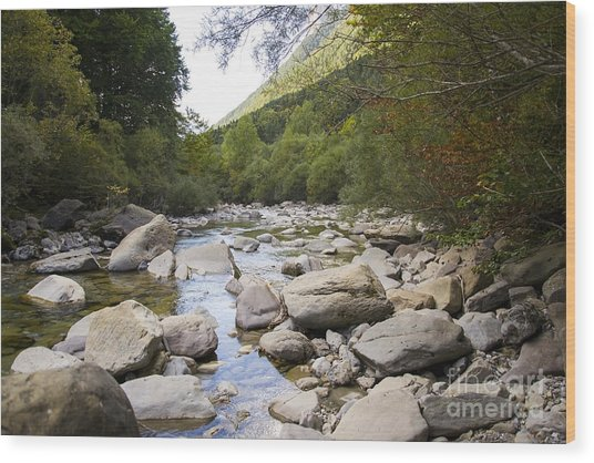 river in Ainsa Wood Print