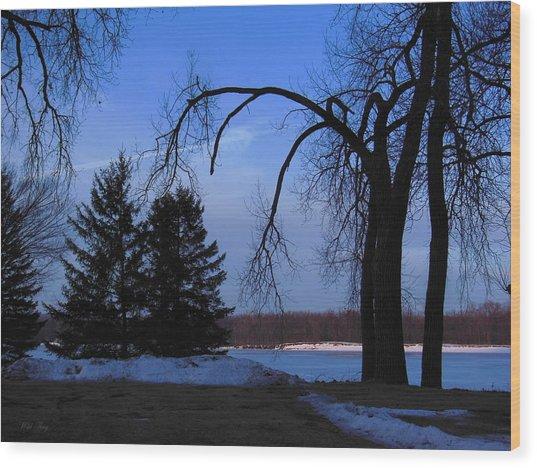 River Morning Wood Print
