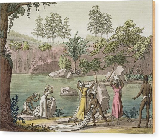 River Near San Benedetto, Madagascar Wood Print