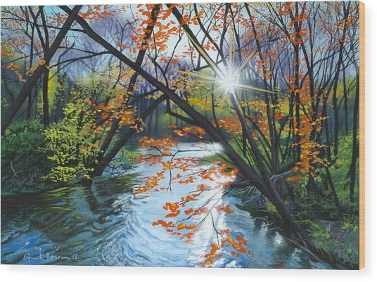 River Of Joy Wood Print