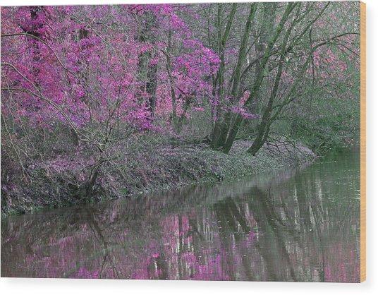 River Of Pastel Wood Print