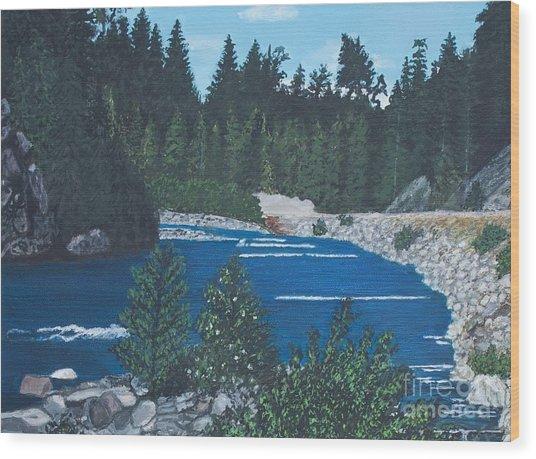 River Of Peace -1 Wood Print