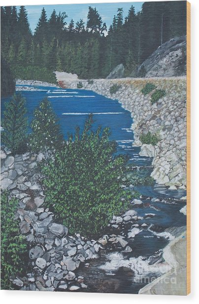 River Of Peace -2 Wood Print