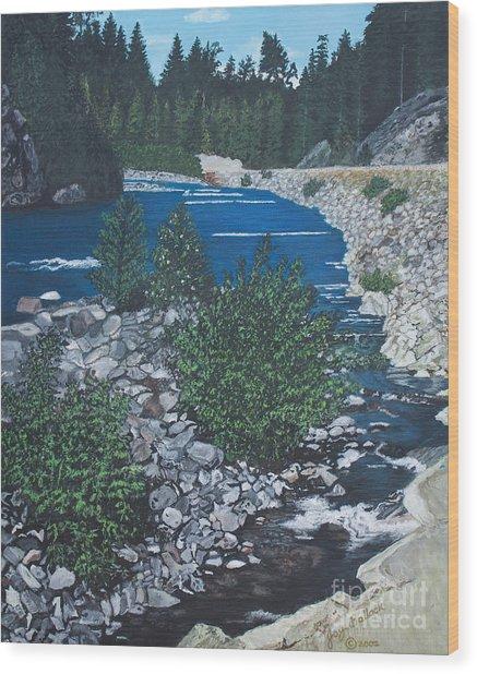 River Of Peace Wood Print