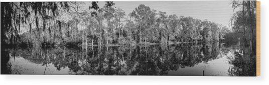 River Pano Wood Print
