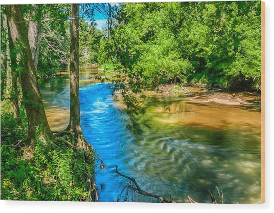 River Reflections Wood Print