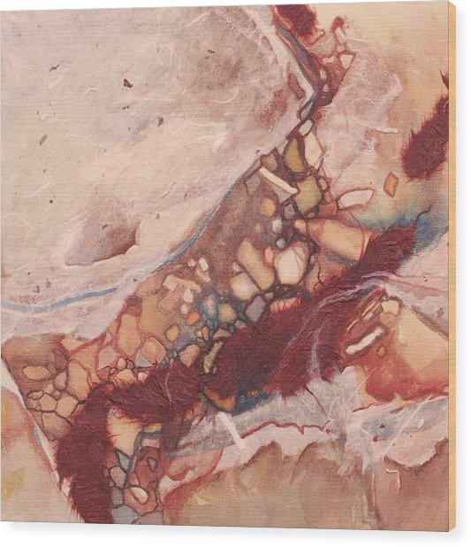 River Rock Wood Print by Carlynne Hershberger