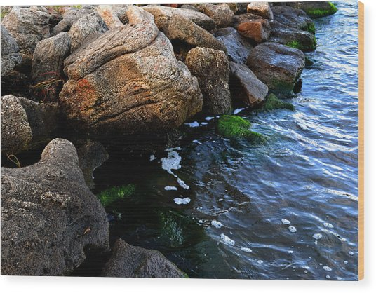 River Rocks Wood Print by Victoria Clark