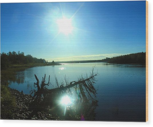 River Ryan Wood Print