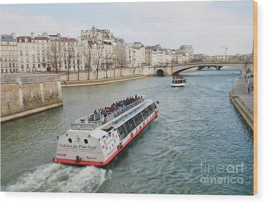 River Seine Excursion Boats Wood Print