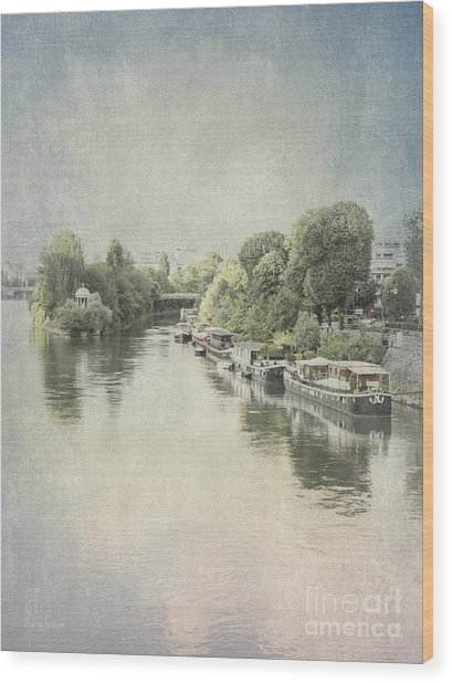 River Seine In Paris Wood Print