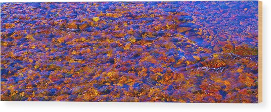 River Song Abstract Wood Print