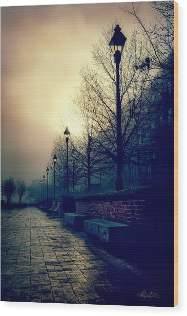 River Street Solitude Wood Print