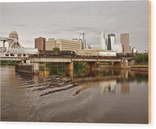 River Structures13 Wood Print