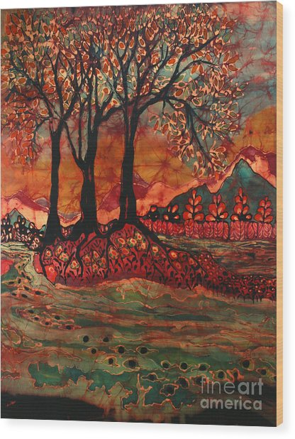 River Sunrise - Lothlorien Wood Print