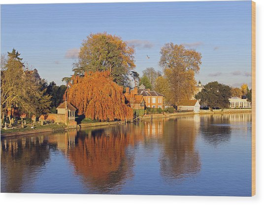River Thames At Marlow Wood Print