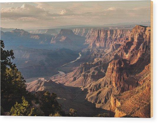 River Through Grand Canyon Wood Print