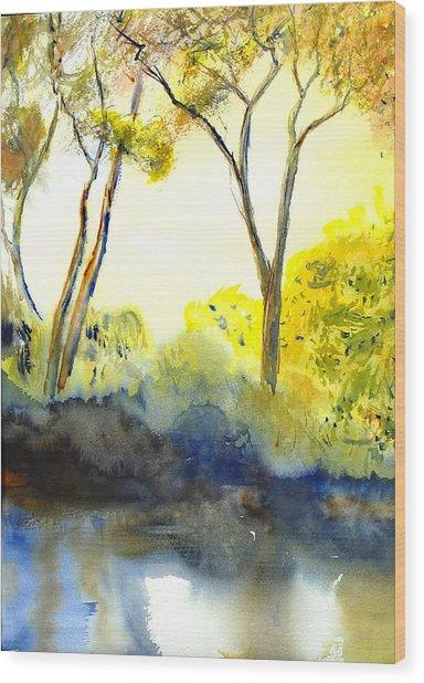 River Trees II Wood Print