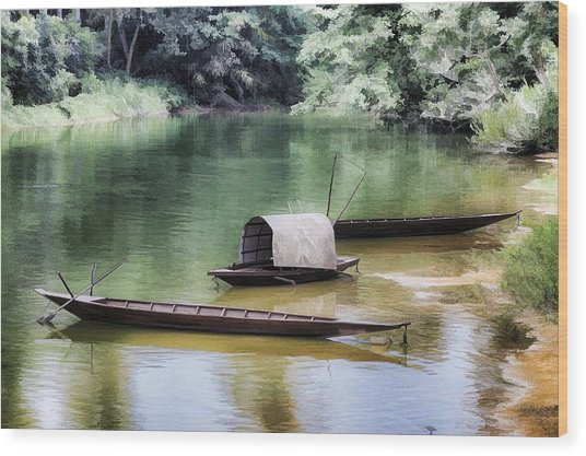 River Tribe Wood Print