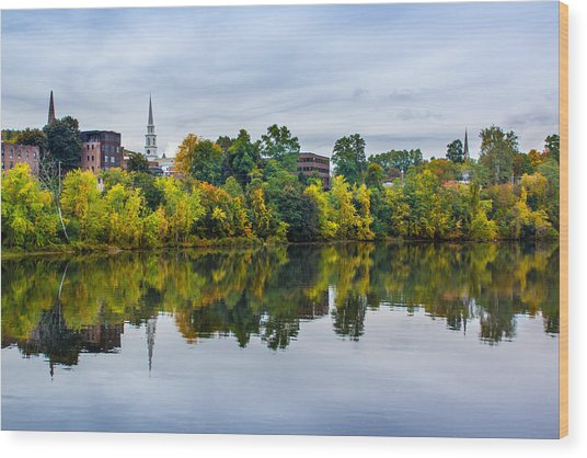 River View Of Brattleboro Vermont Wood Print