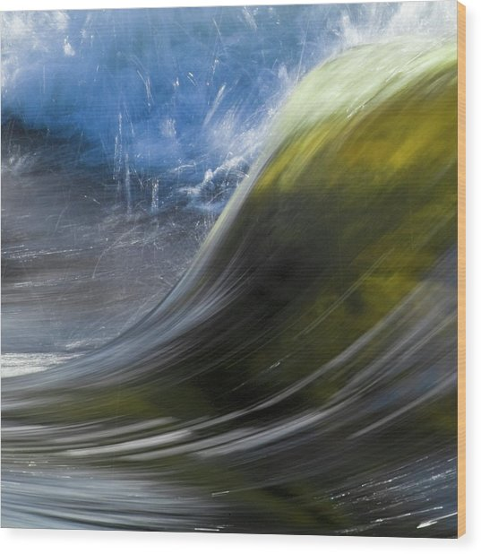 River Wave Wood Print