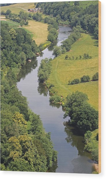 River Wye Wood Print