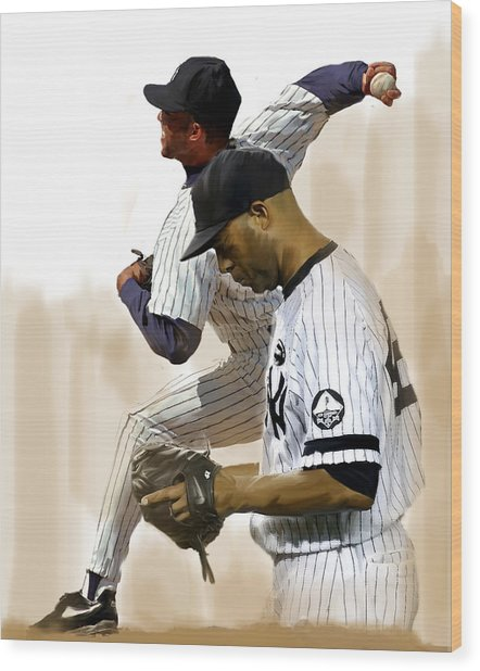 Rivera   Mariano Rivera  Wood Print