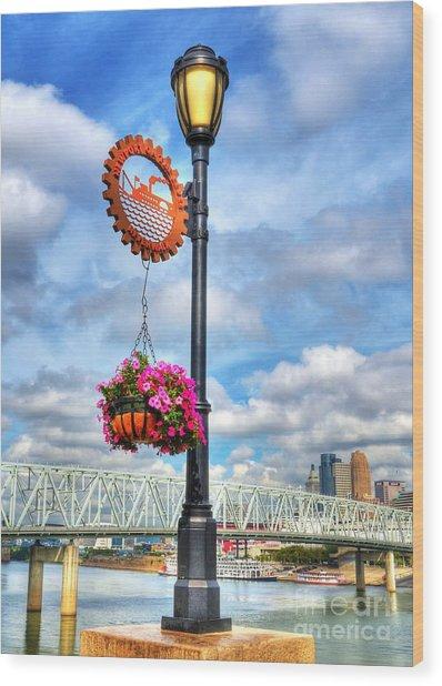 Riverboat Lamp Wood Print