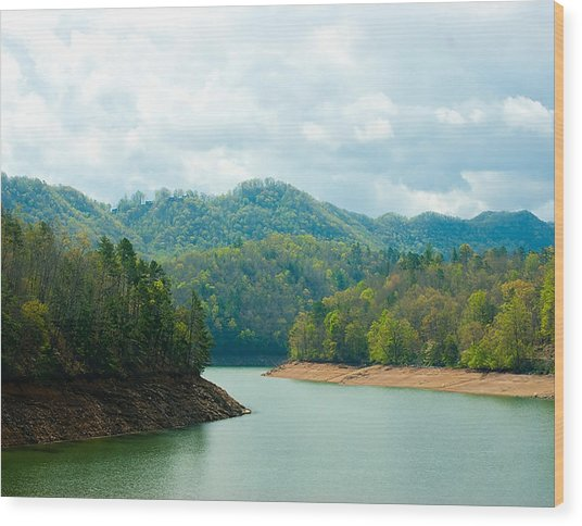 Rivers Bend Wood Print