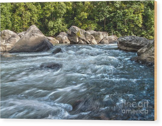 Rivers End Rapid On The Lower Yough Wood Print