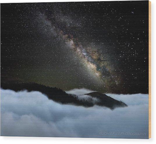 Rivers In The Sky Wood Print by John Fan