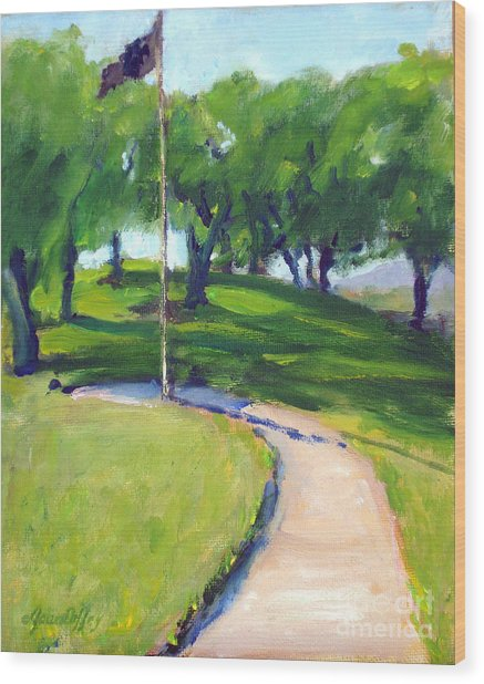 Riverside National Cemetery Pow Mia Flag Wood Print