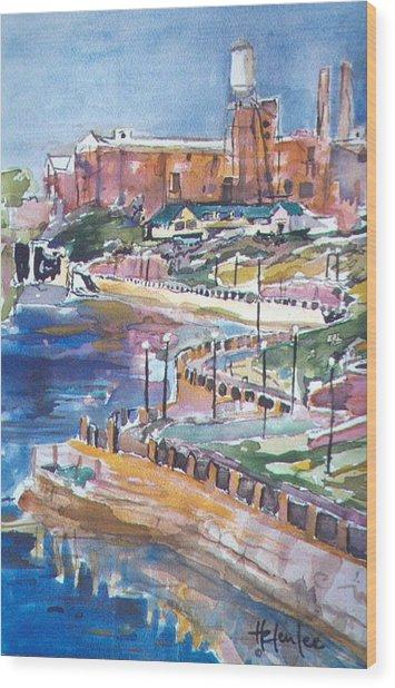 Riverwalk Wood Print