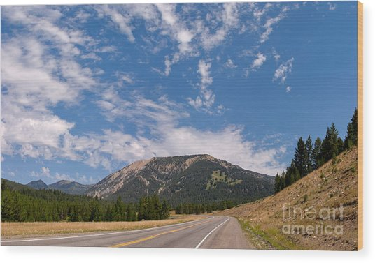 Road To Big Sky Country Wood Print