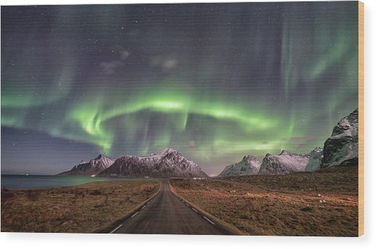 Road To Boreal Wood Print