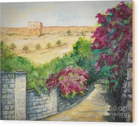 Road To Eastern Gate Wood Print